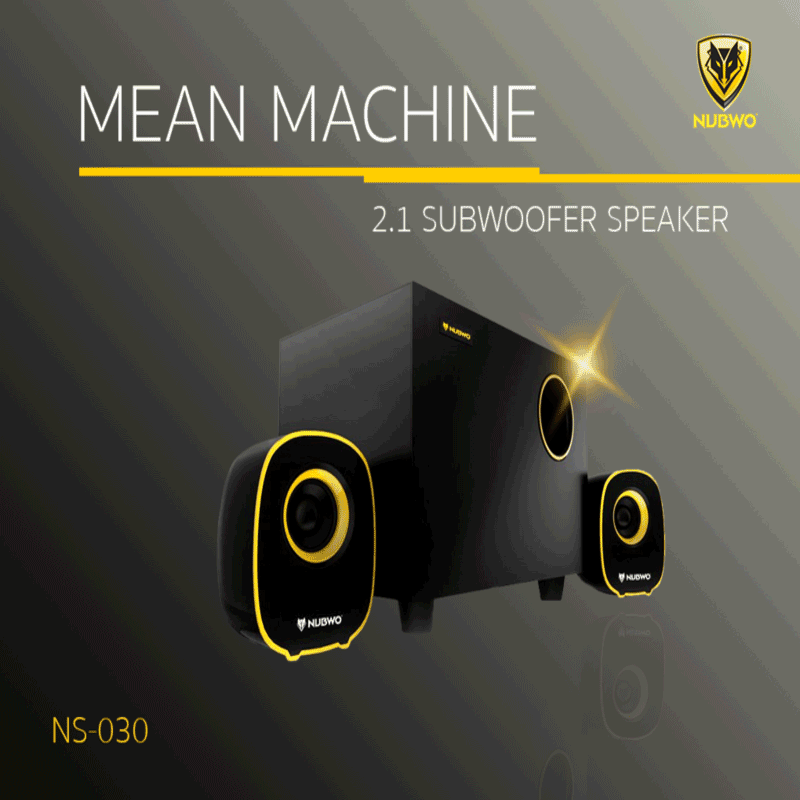 ลำโพง NUBWO USB Speaker 2.1 Mean Machine NS-030